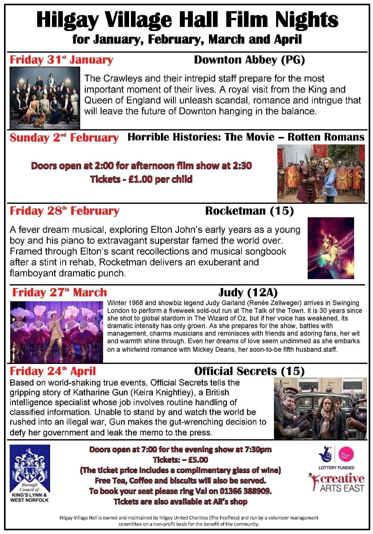 Film Nights - Jan Feb Mar Apr (A3)